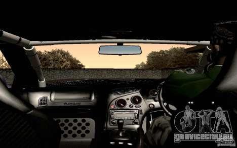 Mazda RX-7 Hellalush для GTA San Andreas вид снизу