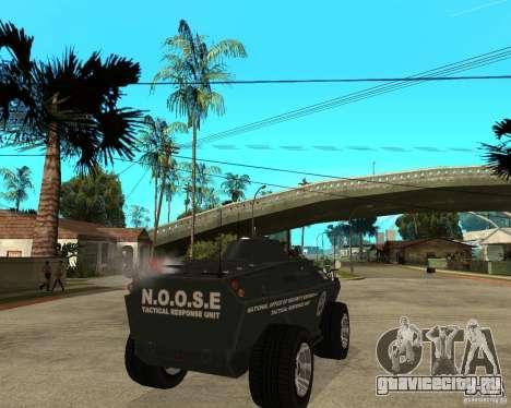 БТР из GTA IV для GTA San Andreas вид сзади слева