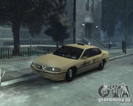 Chevrolet Impala 2003 Taxi для GTA 4 вид слева