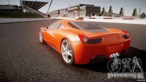 Ferrari 458 Italia 2010 для GTA 4 вид сбоку