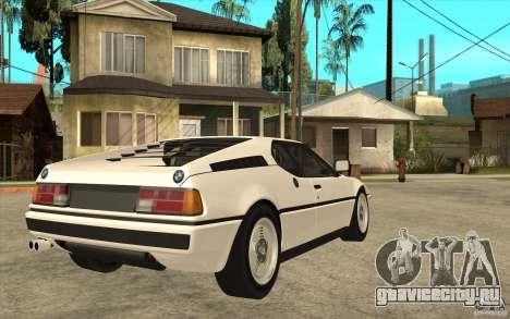 BMW M1 1981 для GTA San Andreas вид справа