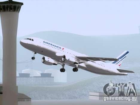 Airbus A320-211 Air France для GTA San Andreas двигатель