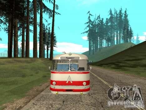ЛАЗ 697Е Турист для GTA San Andreas вид изнутри