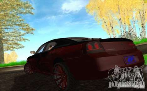 Dodge Charger SRT 8 для GTA San Andreas салон