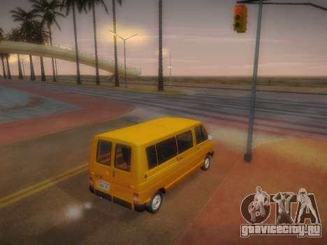 Renault Trafic T1000D Minibus для GTA San Andreas вид изнутри