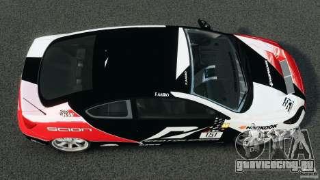 Scion TC Fredric Aasbo Team NFS для GTA 4 вид справа