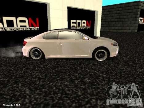 Toyota Scion для GTA San Andreas вид слева