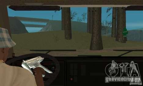 КамАЗ 5460 Skin 3 для GTA San Andreas вид изнутри