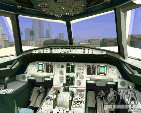 Airbus A-320 авиакомпании UTair для GTA San Andreas вид снизу