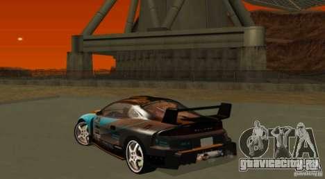 Mitsubishi Eclipse Elite для GTA San Andreas вид сзади
