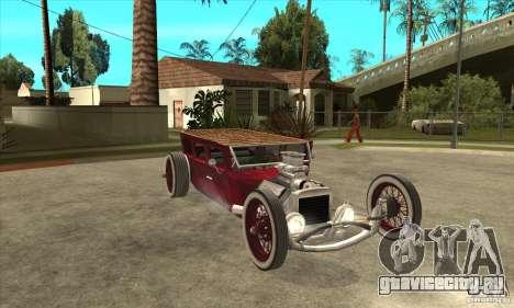 HotRod sedan 1920s no extra для GTA San Andreas вид сзади