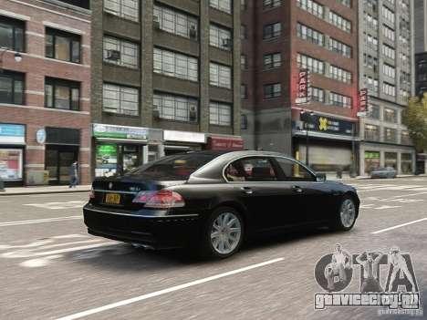 BMW 7 Series E66 2011 для GTA 4 вид сбоку