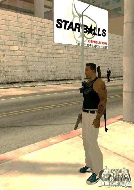 Оружие на теле для GTA San Andreas третий скриншот