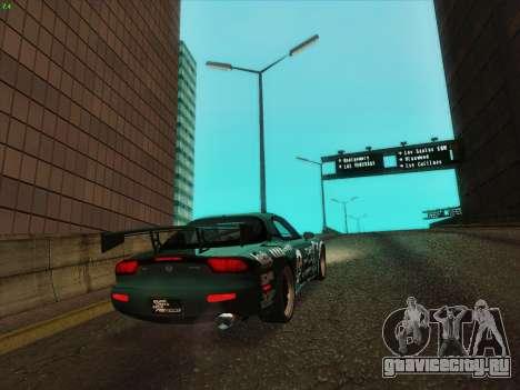 Mazda RX7 rEACT для GTA San Andreas вид сзади слева