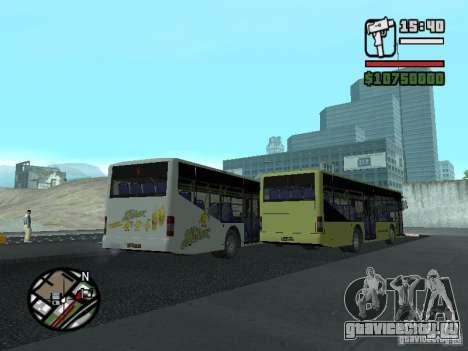 ЛАЗ ИнтерЛАЗ 12 для GTA San Andreas вид изнутри