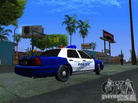 Ford Crown Victoria Belling State Washington для GTA San Andreas вид сзади слева