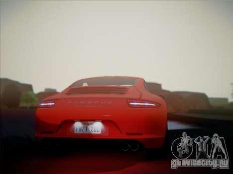 Porsche 911 (991) Carrera S для GTA San Andreas вид справа