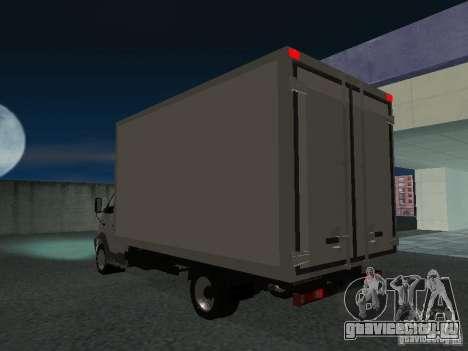 ГАЗ 33102 Валдай (удлиненный) для GTA San Andreas вид сзади слева