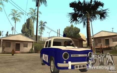 Dacia 1100 Militie для GTA San Andreas вид сзади