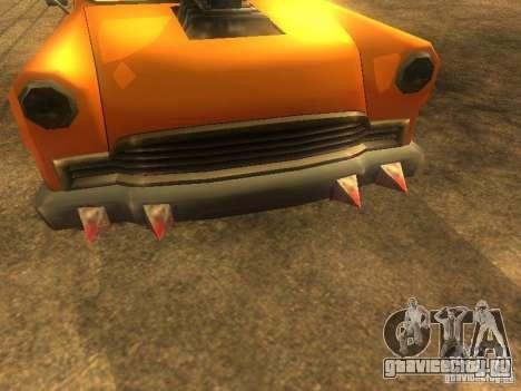 Crazy CABBIE для GTA San Andreas вид сзади слева