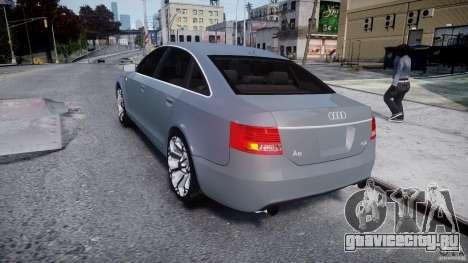Audi A6 TDI 3.0 для GTA 4 вид сзади слева