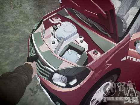 Dacia Sandero Stepway для GTA 4 вид снизу