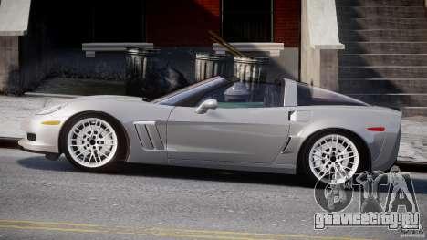 Chevrolet Corvette Grand Sport 2010 v2.0 для GTA 4 вид слева