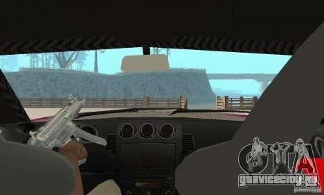 Nissan 350Z Tuning для GTA San Andreas вид изнутри