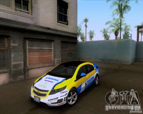Chevrolet Volt 2012 Stock для GTA San Andreas вид снизу