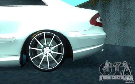 Mercedes-Benz CLK55 AMG для GTA San Andreas вид сверху