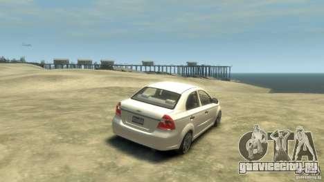 Chevrolet Aveo 2007 для GTA 4 вид справа