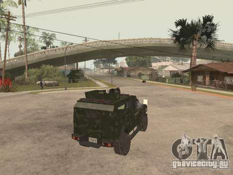 Oshkosh SandCat of Mexican Army для GTA San Andreas вид сзади слева