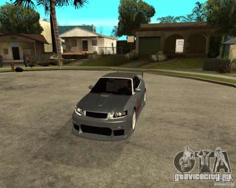 AUDI A4 Cabriolet для GTA San Andreas вид изнутри