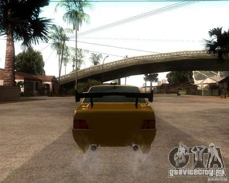 ВАЗ 21099 Tuning для GTA San Andreas вид сзади слева