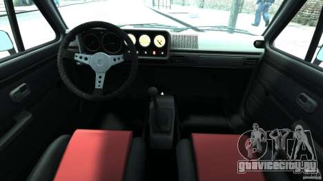 Volkswagen Golf Mk1 Stance для GTA 4 вид сзади