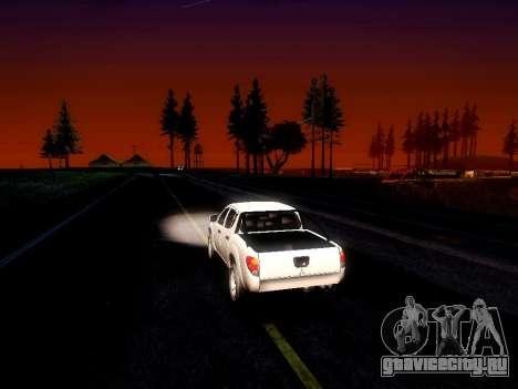 Mitsubishi L200 Stock для GTA San Andreas вид изнутри