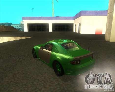 Mazda Miata MX-5 Konguard 2007 для GTA San Andreas вид сзади слева