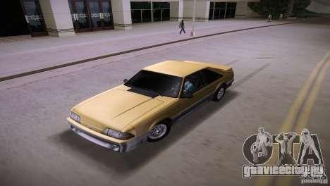 Ford Mustang GT 1993 для GTA Vice City вид изнутри