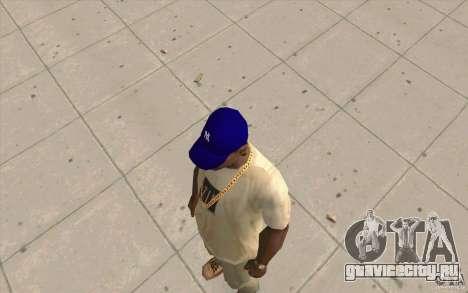 Кепка newyorkyankiys фиолетовая для GTA San Andreas