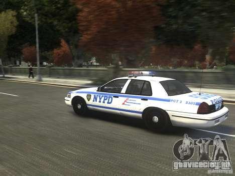 Ford Crown Victoria NYPD 2012 для GTA 4 вид сзади слева