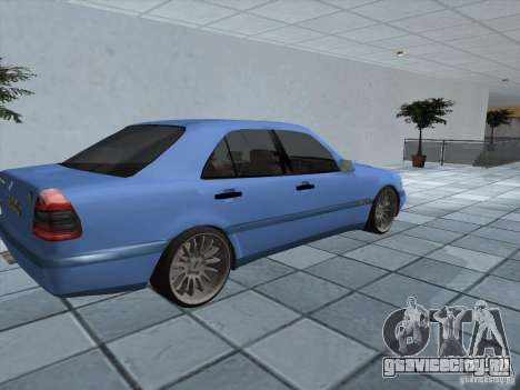 Mercedes Benz C220 для GTA San Andreas вид сзади слева