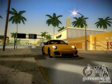 Porsche 997 GT2 для GTA San Andreas вид изнутри