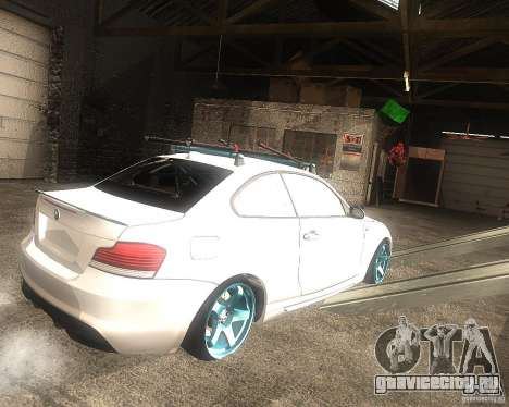 BMW 135i Hella Drift для GTA San Andreas вид сзади слева
