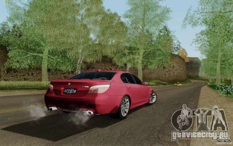 BMW M5 2009 для GTA San Andreas вид слева