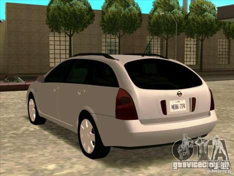Nissan Primera Wagon для GTA San Andreas вид слева