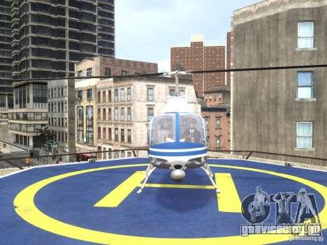 Bell 206 B - NYPD для GTA 4 вид справа