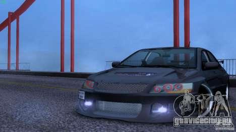 Mitsubishi Lancer Evolution 8 Drift для GTA San Andreas вид сзади