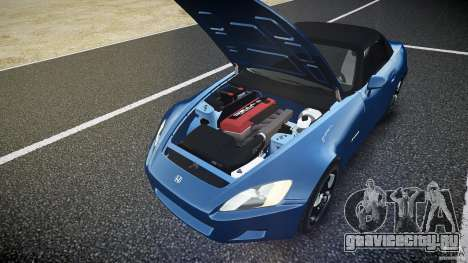 Honda S2000 v2 2002 для спокойной езды для GTA 4 вид снизу