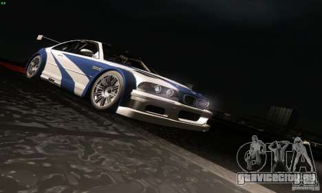 BMW M3 GTR для GTA San Andreas вид снизу