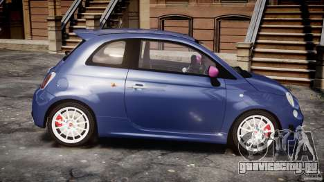 Fiat 500 Abarth SS для GTA 4 вид изнутри